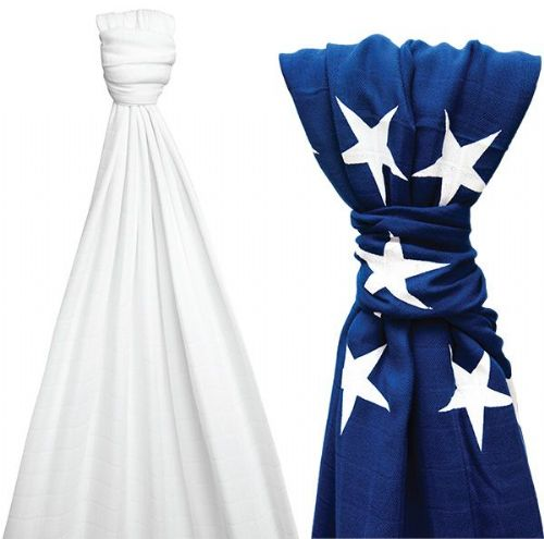 Liberty Stars Bamboo Blanket & Optic White XL Blanket